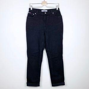 Vintage Tommy Hilfiger Black Logo Mom Jeans